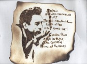 Country Pyrography Posters - Johnny Cash Poster by Clarence Butch Martin