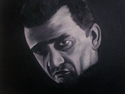 Icons Painting Originals - Johnny Cash by Gary Boyle
