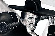Musician Portrait Painting Originals - Johnny Cash by Keith  Thurman