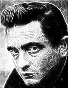Classic Singer Digital Art - Johnny Cash by Paul Van Scott