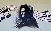 Country And Western Prints - Johnny Cash Print by Rob Hans