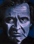 Cash Paintings - Johnny Cash by Tabetha Landt-Hastings
