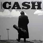 Johnny Posters - Johnny Cash Poster by Tom Carlton