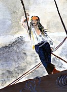 Jack Sparrow Paintings - Johnny Depp 8 by Audrey Pollitt