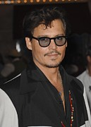 Pirates Of Caribbean Prints - Johnny Depp At Arrivals For Pirates Print by Everett