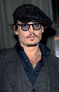 Playboy Art - Johnny Depp At Arrivals For Playboy by Everett