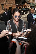 Autographs Framed Prints - Johnny Depp At Talk Show Appearance Framed Print by Everett