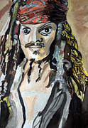 Captain Jack Sparrow Paintings - Johnny Depp / Captain Jack Sparrow - KK05 by John Kelting