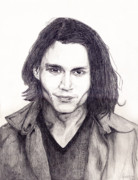 Johnny Depp Art - Johnny Depp by Debbie McIntyre