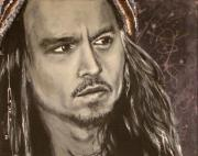 Johnny Drawings Posters - Johnny Depp Poster by Eric Dee