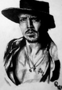Pauline Murphy Framed Prints - Johnny Depp Framed Print by Pauline Murphy
