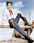 1950s Movies Photo Framed Prints - Johnny Guitar, Joan Crawford, 1954 Framed Print by Everett