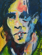 Rock And Roll Painting Originals - Johnny by Les Leffingwell