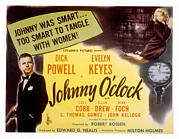 Keyes Posters - Johnny Oclock, Dick Powell, Evelyn Poster by Everett