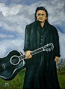 Guitar Man Prints - Johnny On Grass Print by Pete Maier