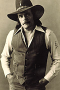 Country Music Prints - Johnny Paycheck, C. 1970s Print by Everett
