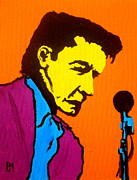 Musician Portrait Painting Originals - Johnny Pop III by Pete Maier