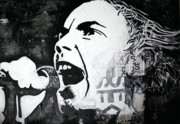 Mix Medium Mixed Media Prints - Johnny rotten Print by Patrick Indo