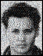 Johnny Mixed Media Posters - Johynny Depp 21 Jump Street Mosaic Poster by Paul Van Scott