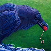 Raven Framed Prints - Joie De Vivre Framed Print by Brian  Commerford