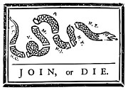 4th July Digital Art Posters - Join or Die Poster by War Is Hell Store
