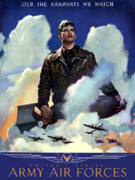 Us Army Air Force Digital Art Posters - Join The Army Air Forces Poster by War Is Hell Store