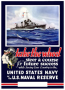 Ww11 Framed Prints - Join The US Navy Framed Print by War Is Hell Store