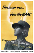Wwii Propaganda Metal Prints - Join The WAAC Metal Print by War Is Hell Store