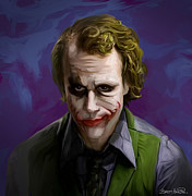 Smile Painting Prints - Joker Print by Brett Hardin