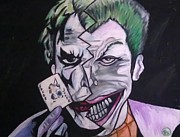 Fan Pastels Posters - Joker Poster by Holly Walker