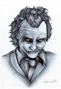 Heath Ledger Posters - Joker Poster by Jamie Warkentin