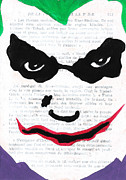 Comic Book Drawings Framed Prints - Joker Framed Print by Jera Sky