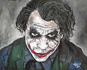 Heath Ledger Posters - Joker Poster by Tom Carlton
