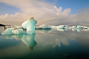 Iceberg Prints - Jokulsarlon Glacier Lagoon Icebergs Print by Stealing Beauty Photography