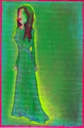 Ricky Sencion Prints - Jolie Green Print by Ricky Sencion