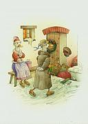 Humor Drawings Originals - Jolly Christmas by Kestutis Kasparavicius