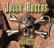Belt Buckle Jewelry - Jolly Rogers by Dire Needz