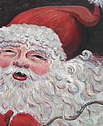 Santa Claus Paintings - Jolly Santa by Nadine Rippelmeyer