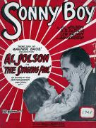 Sonny Prints - Jolson: Sheet Music Cover, 1928 Print by Granger