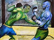 Ultimate Fighting Championship Prints - Jon Coppenhaver vs. Jared Rollins Print by Michael Cook