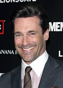 Mad Men Framed Prints - Jon Hamm At Arrivals For Amcs Mad Men Framed Print by Everett