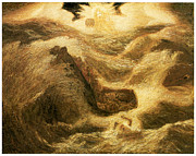 American Artist Paintings - Jonah by Albert Pinkham Ryder