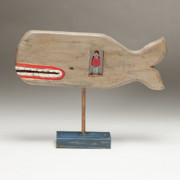 Wood Carving Sculpture Prints - Jonah Print by James Neill