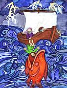 Religious Art Painting Posters - Jonah Poster by Sherry Holder Hunt