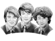 People Drawings Originals - Jonas Brothers by Murphy Elliott