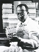 Polio Vaccine Photos - Jonas E. Salk 1914-1995, American by Everett