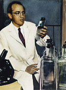 Infection Art - Jonas Salk (1914-1995) by Granger