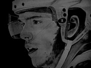 Blackhawks Drawings - Jonathan Toews - Blackhawks by Melissa Goodrich