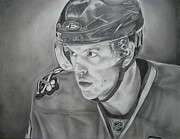 Puck Drawings - Jonathan Toews by Brian Schuster