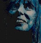 Folk  Painting Acrylic Prints - Joni Mitchell Acrylic Print by Paul Lovering